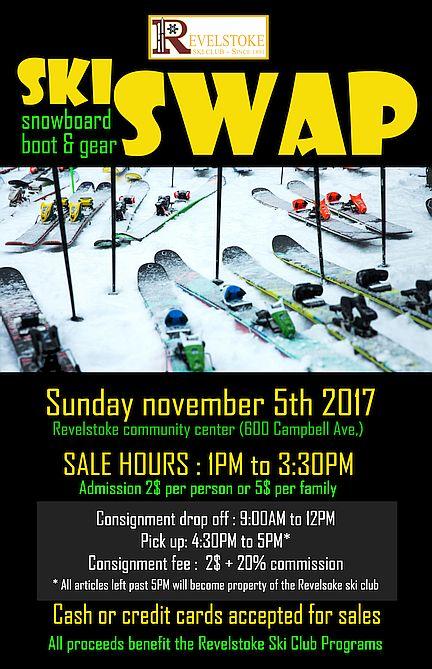 2017 Revelstoke Ski Club Ski Swap