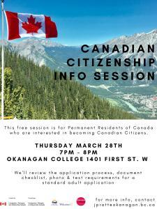 Canadian Citizenship info session @ Okanagan College