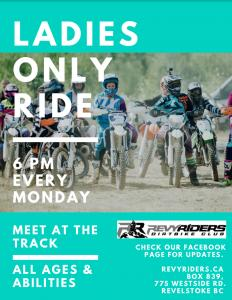 Ladies Only Dirtbike Rides @ Revy Riders