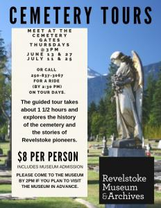 Cemetery Tour hosted by Curator Cathy English of the Revelstoke Museum & Archives @ Mountain View Cemetery