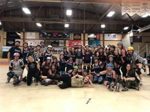 Roller Derby - Revelstoke Derailers vs Armstrong Farmers' Slaughters @ Revelstoke Forum