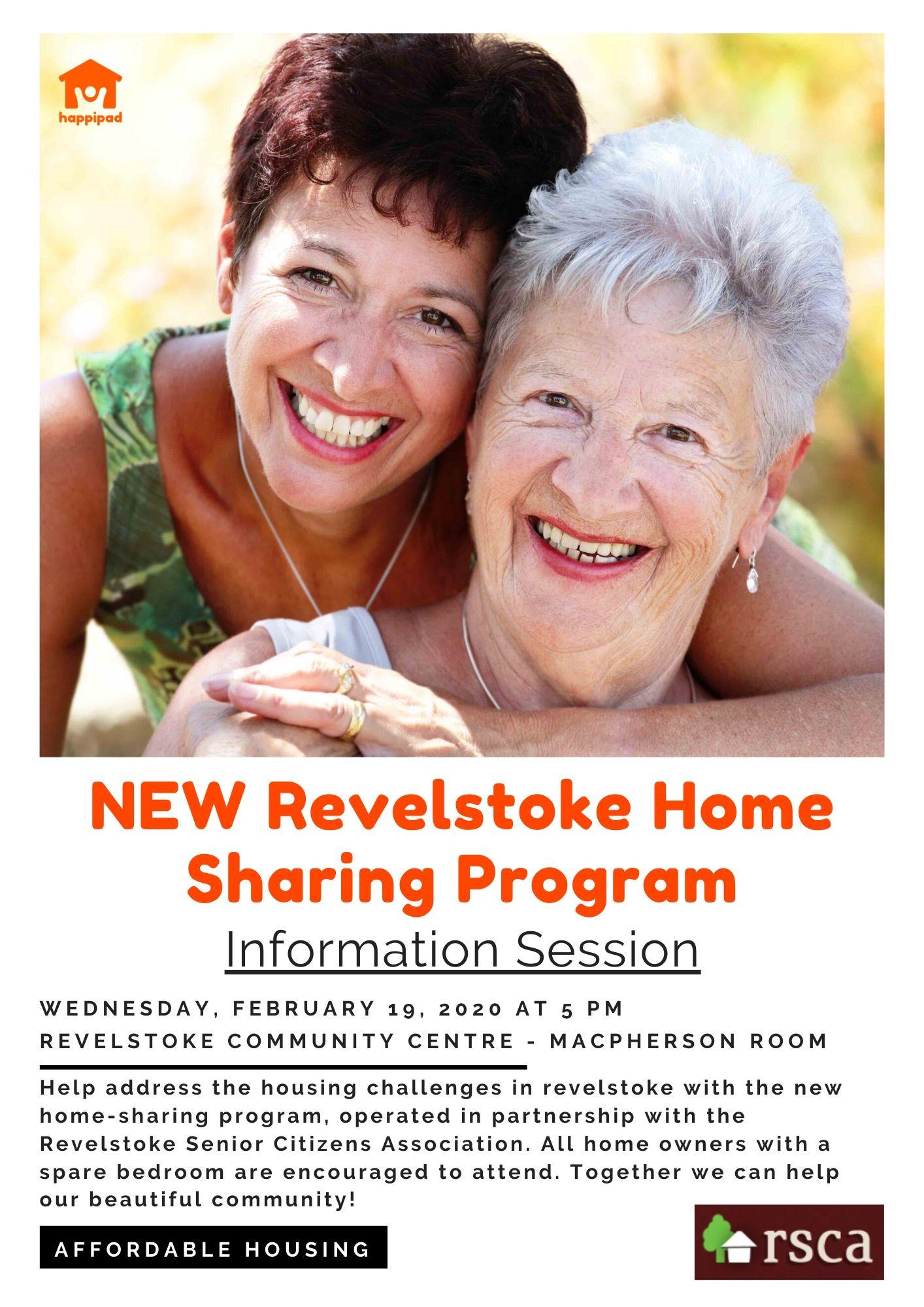 NEW Revelstoke Home Sharing Program – Information Session